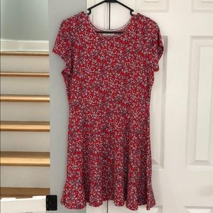 Copper Key Red Floral Dress